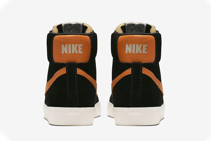 Nike Blazer Mid Vintage Black Amber Rise Heel