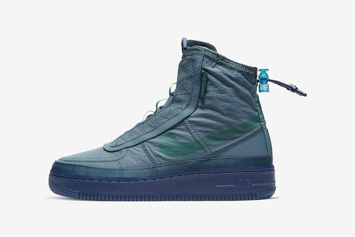 Nike Air Force 1 Shell Midnight Turquoise Lateral