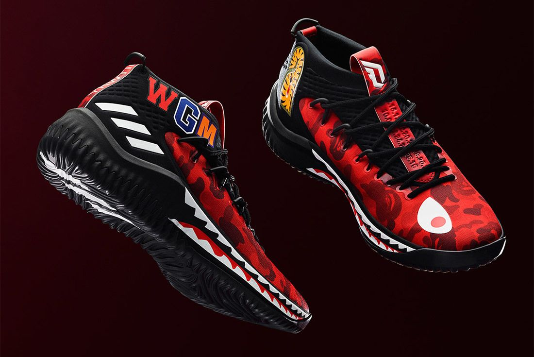 Bape Adidas Dame 4 Red Sneaker Freaker 1