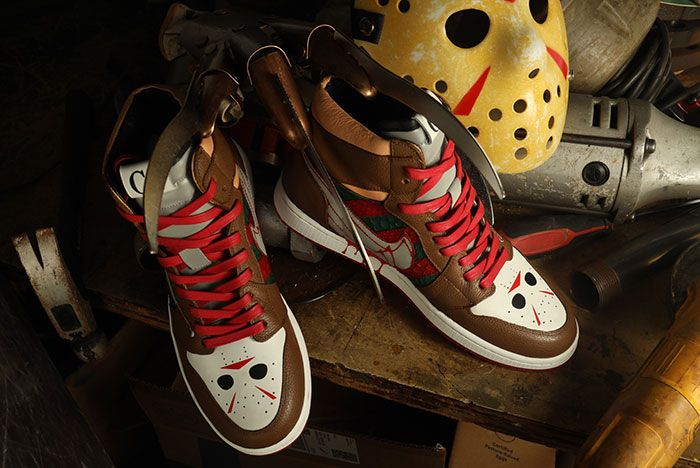 Ceeze Air Jordan 1 Freddy Vs Jason Custom