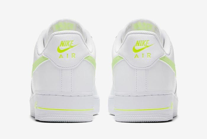 Nike Air Force 1 White Volt Heels