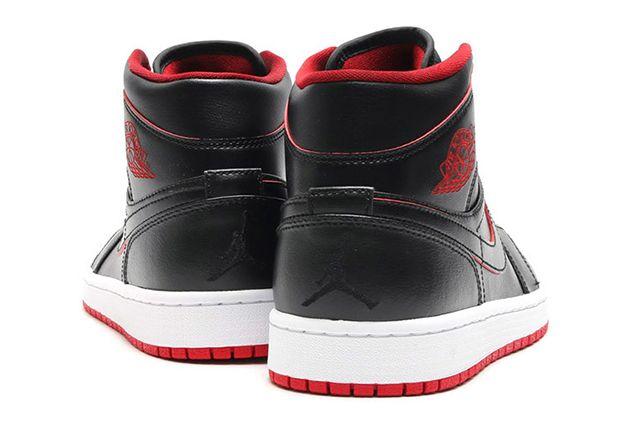 Air Jordan 1 Mid Black Gym Red 4
