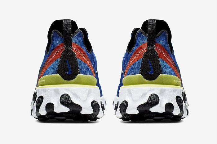 Nike React Element 55 Game Royal Bq6166 403 Release Date Heel