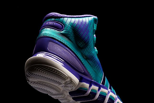 Adidas Crazyquick Teal Purple Heels 1