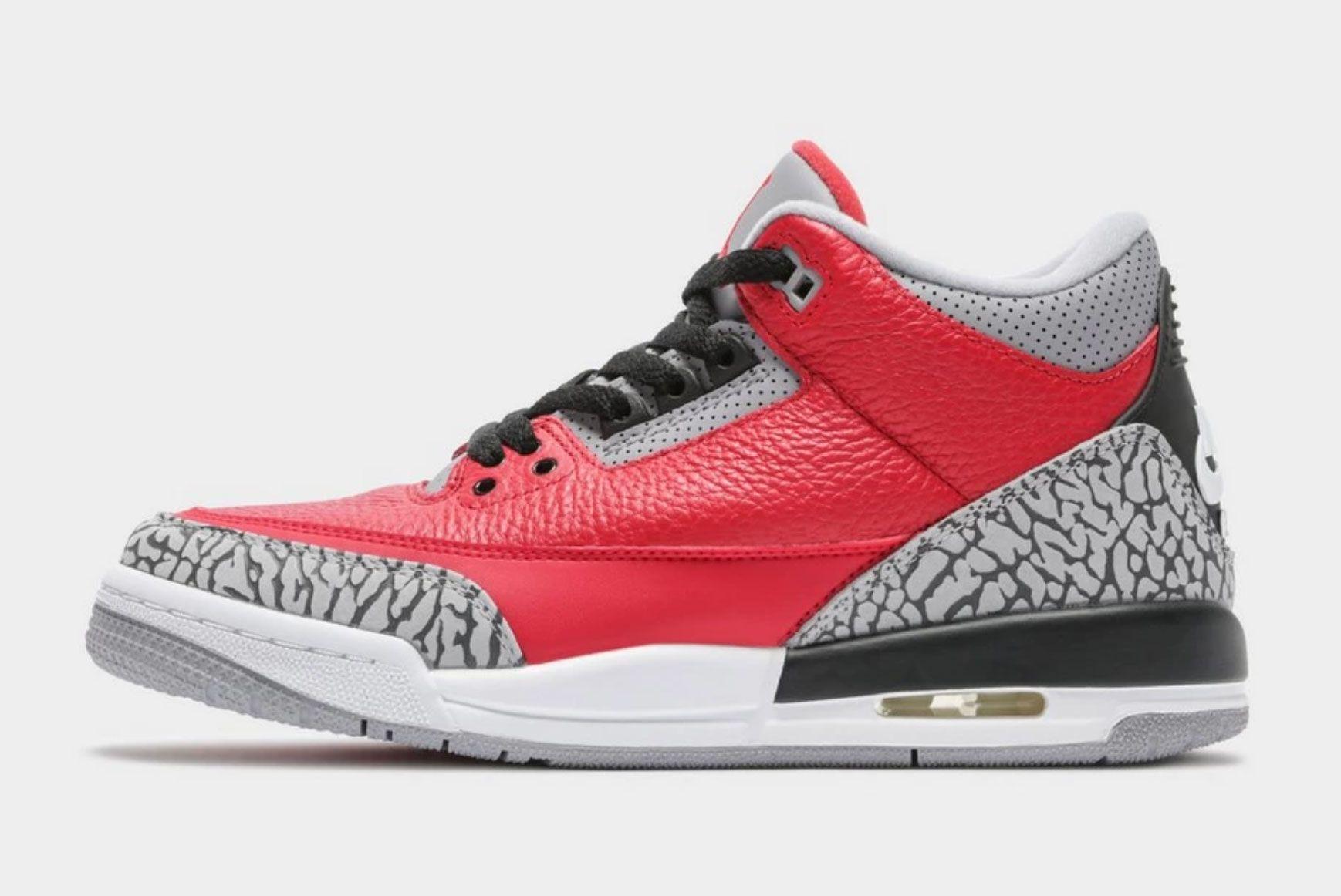 Air Jordan 3 GS 'Fire Red'