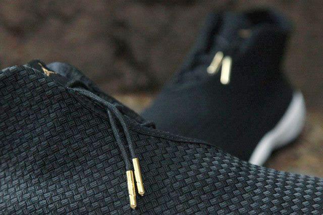 Jordan Future Black White Gold Feature5