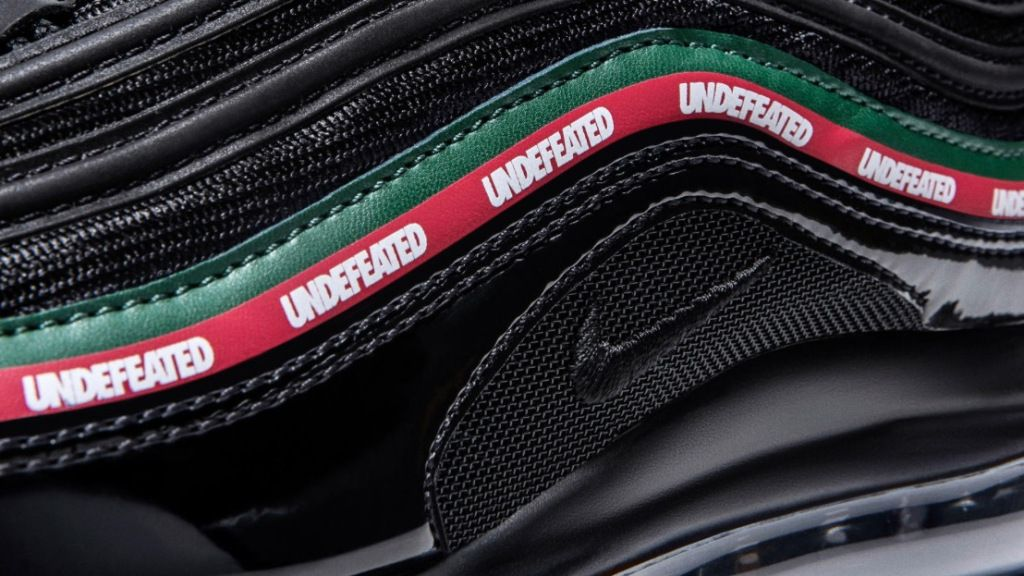 Undefeated Air Max 97 Black Closeup
