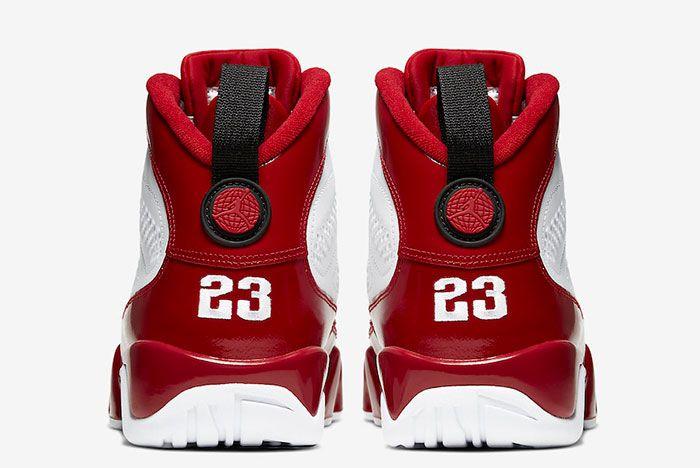 Air Jordan 9 Gym Red 302370 160 Heels