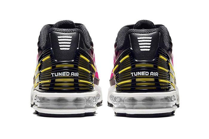 Nike Air Max Plus 3 Black Hyper Purple Optic Yellow Cd6871 005 Release Date Heel