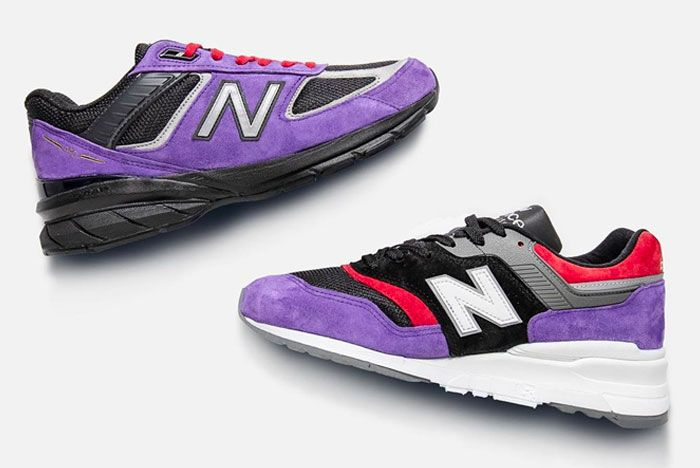 New Balance 997 990V5 Toronto Raptors Left Right