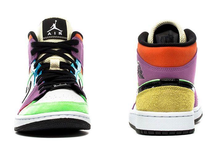 Air Jordan 1 Mid Lightbulb Heel Toe