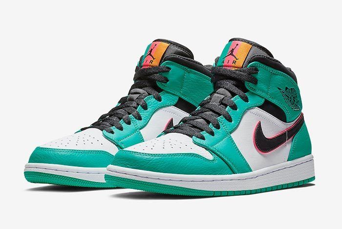 Air Jordan 1 Mid South Beach Turbo Green 852542 306 Release Date 4