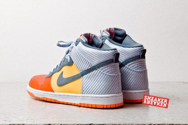 Nike Dunk Hi Team Orange Total Orange Heel Quarter