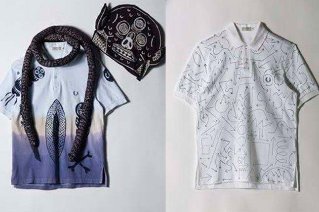 Eko Nugroho And Geoff Mcfetridge Custom Fred Perry Shirts 1
