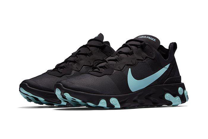 Nike Element React Black Blue 1