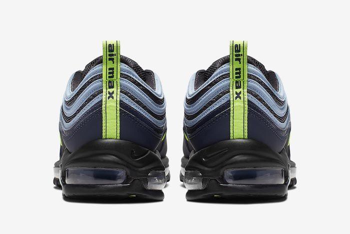 Nike Air Max 97 Volt Obsidian Heels