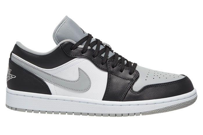 Air Jordan 1 Low Black Light Smoke Grey 553558 039 Release Dateon White
