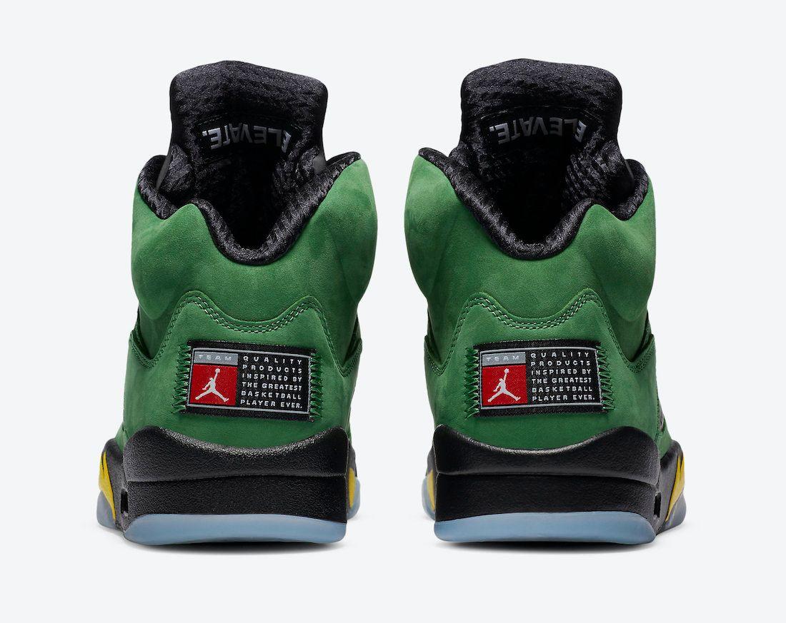 Air Jordan 5 Oregon Heel