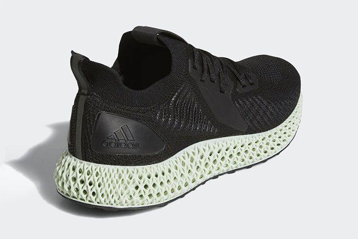 Adidas Alphaedge 4 D Black Back Quarter