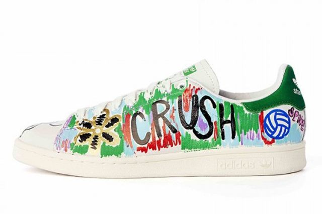 Pharrell Williams Hand Painted Adidas Originals Stan Smith 5