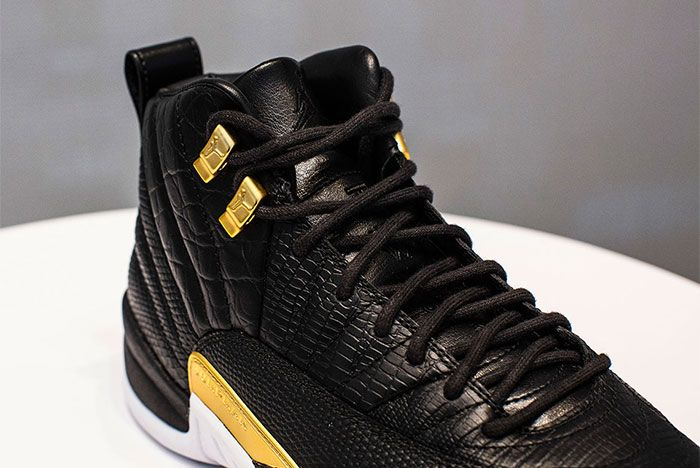 Air Jordan 12 White Black And Gold Release Date Front Shot
