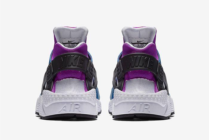 Nike Air Huarache Blue Jay White Hyper Violet Black 4