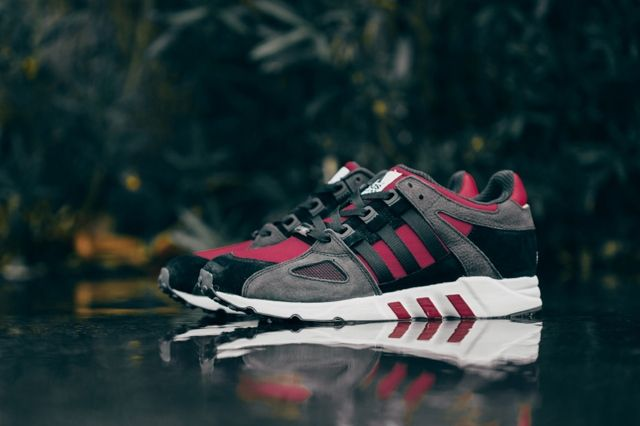 Adidas Eqt Running Guidance Support 93 Core Black Rust Red 2