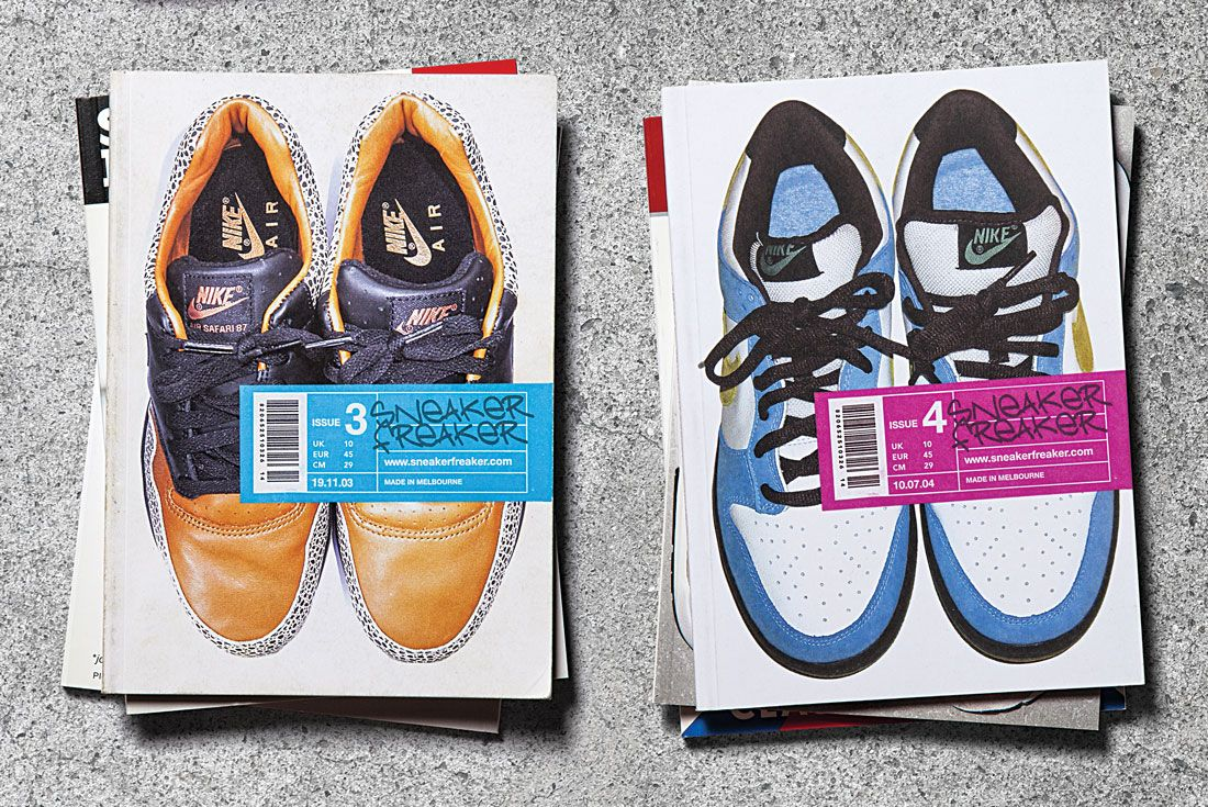 Issues 3 and 4 of Sneaker Freaker magazine