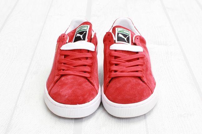 Puma Suede Red White Toe Profile 1