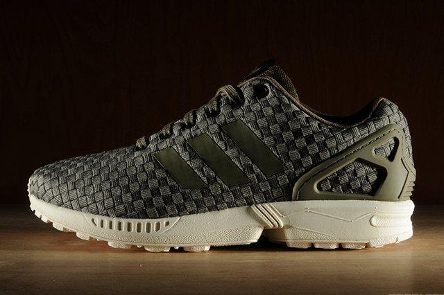 Adidas Zx Flux Reflective Weave Olive 3