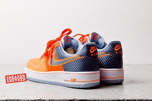 Nike Air Force 1 Low Team Orange Total Orange Heel Quarter