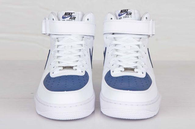 Nike Af1 Mid 07 White Blue Legend 6