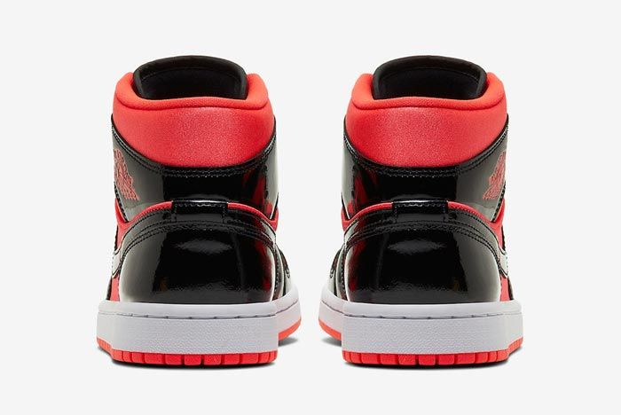 Air Jordan 1 Mid Womens Hot Punch Black Heels