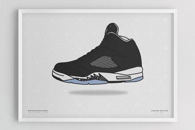 Sneaker Prints Air Jordan 5