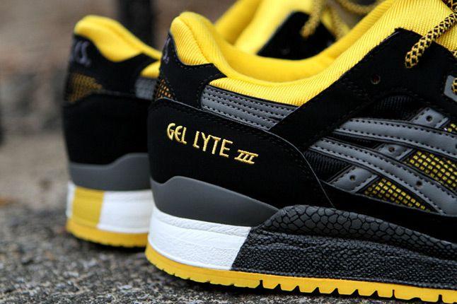 Asics Gel Lyte Iii Black Yellow Kith Heels 1