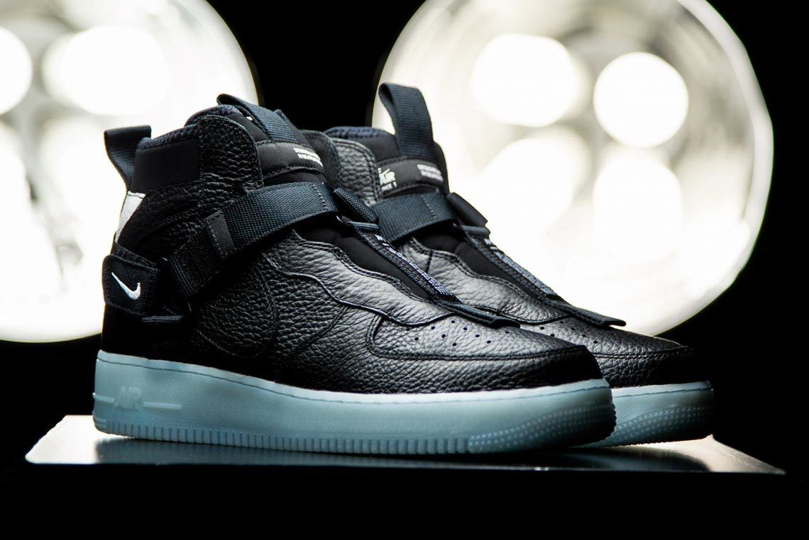 Nike Air Force 1 Mid Utility Black Blue 1