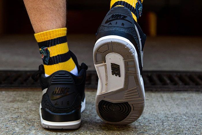 Tinker Air Jordan 3 Black Cement On Foot 9