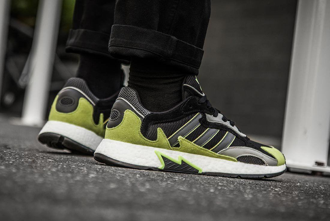 Green Adidas Tresc Run Right Side Shot