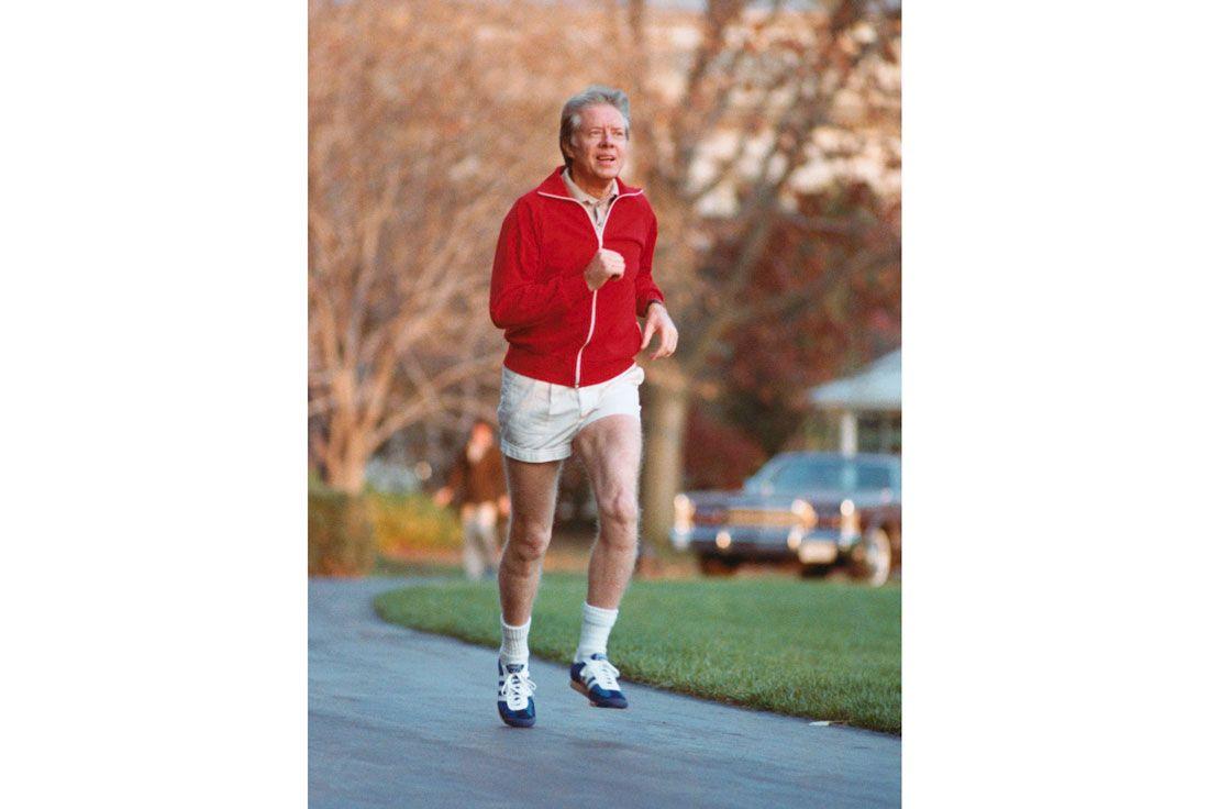 Running For President Jimmy Carter Adidasbettmann Archive