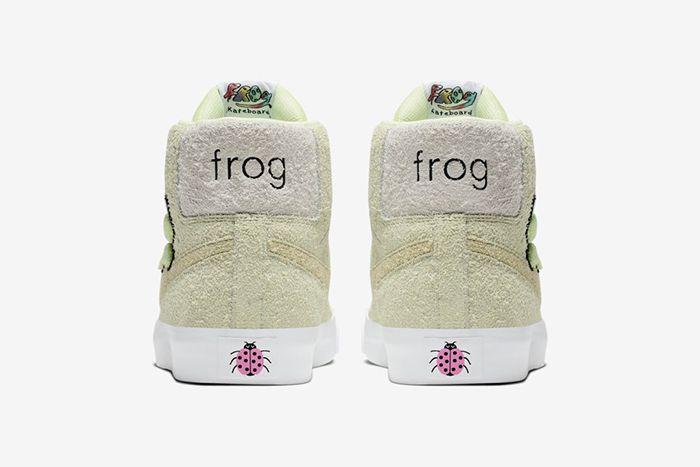 Frog Skateboards Nike Sb Zoom Blazer Mid Qs Heel