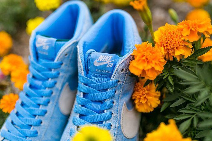 Lance Mountain X Nike Sb Blazer Mid University Blue White Release Date 1 Sneaker Freaker