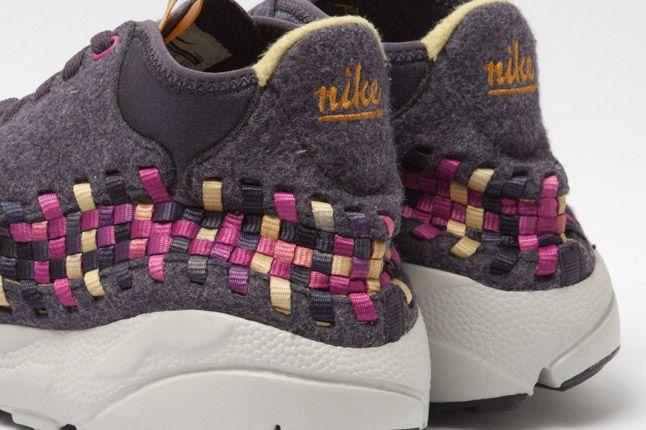 Nike Footscape Woven Chukka Gold Purple Wool Heel Close 1