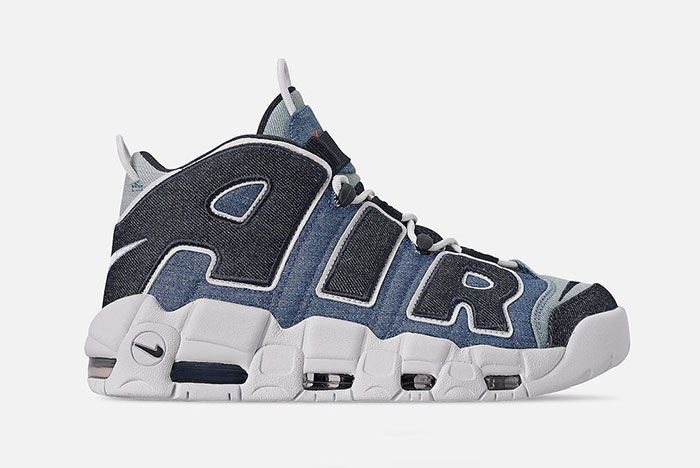 Nike Air More Uptempo Denim Cj6125 100 Release Date 1 Side