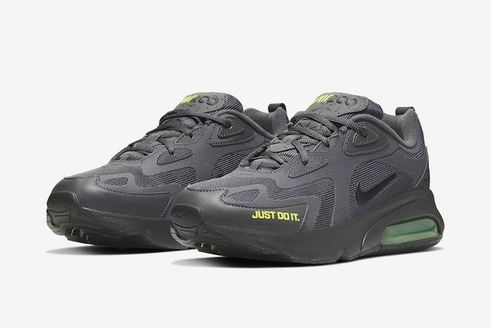 Nike Air Max 200 Dark Grey Volt Pair