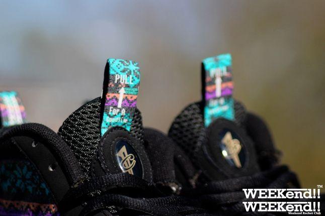 Nike Foamposite Rocket Boy Nift Sunset Strip Tongue 1