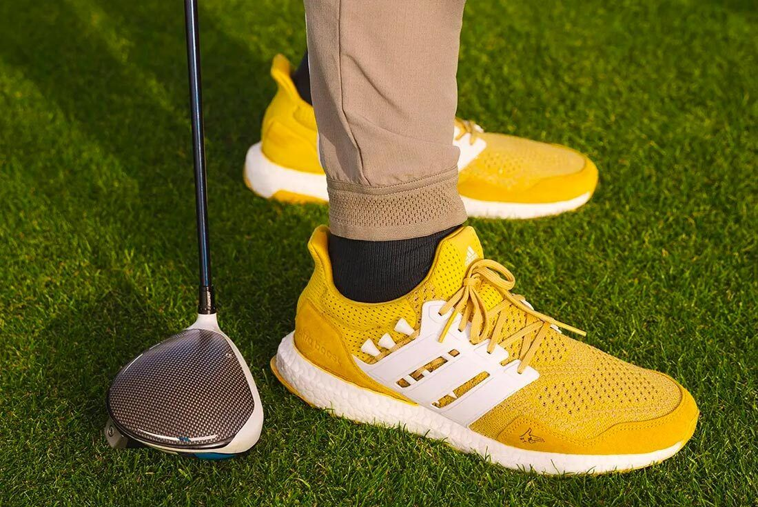 Extra Butter x Happy Gilmore x adidasUltraBOOST'Gold Jacket'