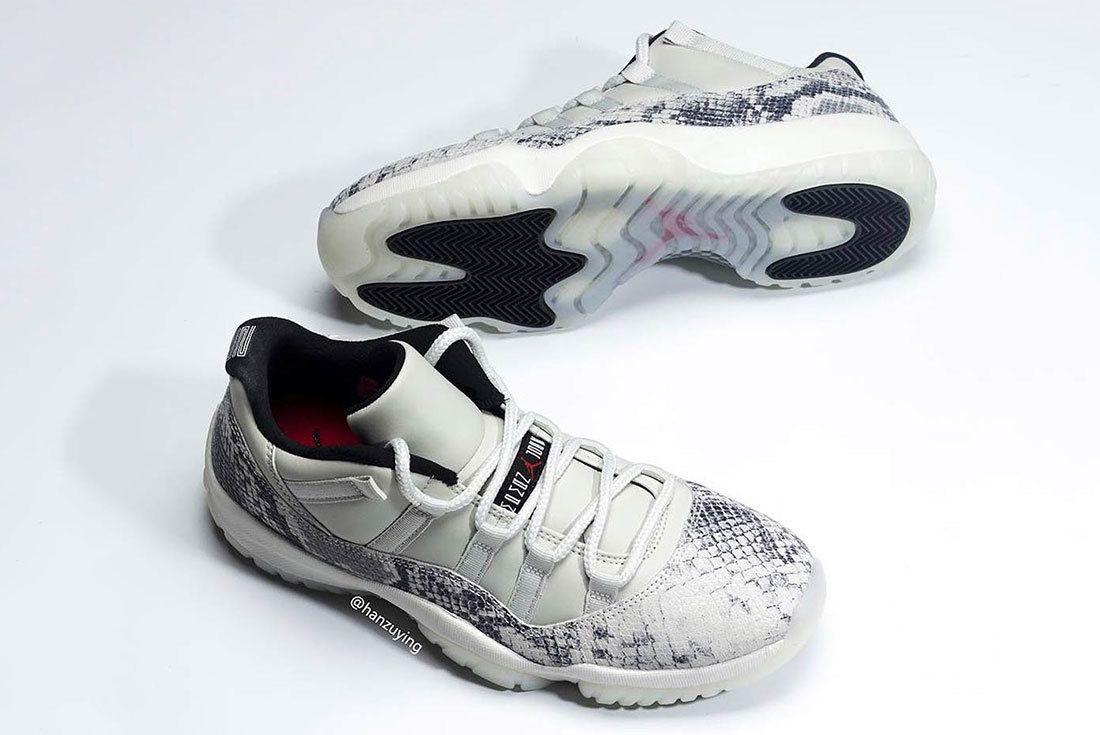 Air Jordan 11 Low Snakeskin Light Bone Cd6846 002 9