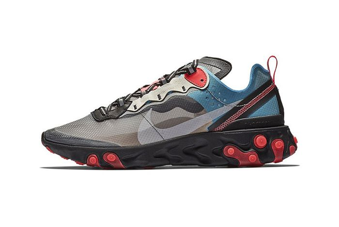 Nike React Element 87 Blue Chill Solar Red 1