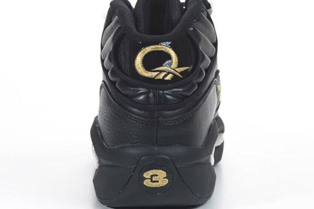 Reebok Question Black Gold New Years Eve Release Heel 1