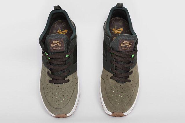 Nike Sb Project Ba Premium Sequoia Metallic Gold Top